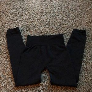 Sofra women's black ankle length leggings